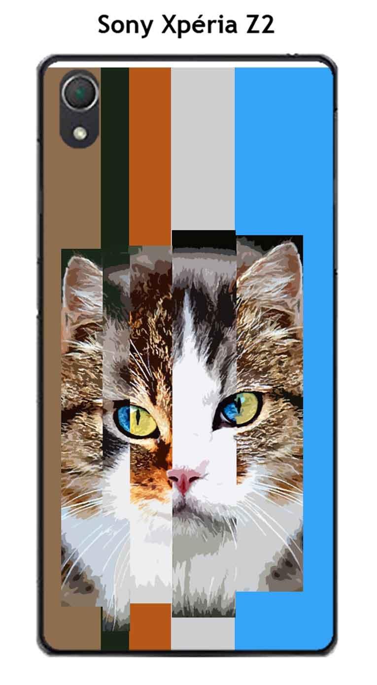 Onozo Carcasa Sony Xperia Z2 diseño Multi gatos en un ...