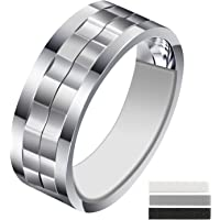 Invisible Ring Size Adjuster with Silver Polishing Cloth,Jewelry Guard, Tightener,Spacer, Sizer, Fitter,Reducer for Wide…