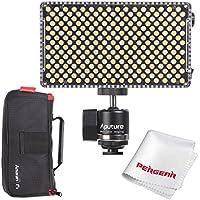 Aputure AL-F7, Aputure H198 Upgrade Ver 256 LED Bi-Color Dimmable Led Video Light, CRI95+ TLCI95+, 3200-9500K Adjustable, Stepless Brightness Control, Multiple Charging Methods, Lightweight Compact