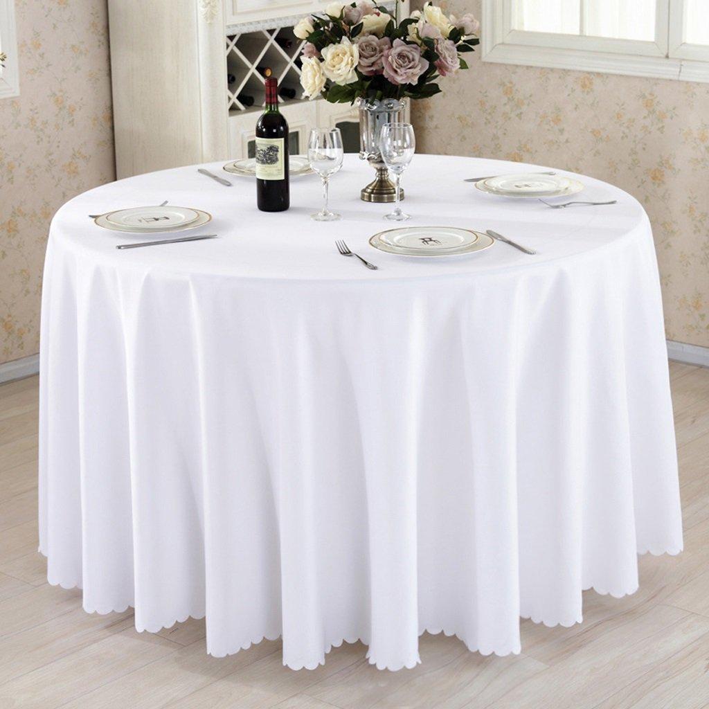 servicio de primera clase HAOLIA Espinoso Hotel Mesa redonda Mantel Rectángulo Cuadrado Redondo Redondo Redondo blanco tovaglie ( Tamaño : 260cm )  clásico atemporal