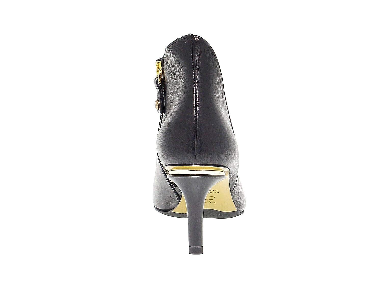 - FABI Women's FABI5689 Black Leather Pumps