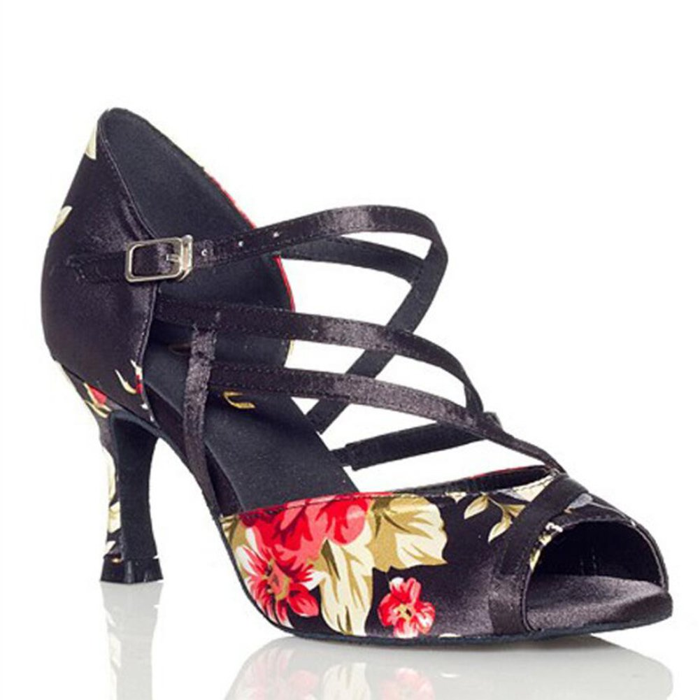 XUE Damen Latein Schuhe Salsa Schuhe Ballsaal Schuhe Schuhe Schuhe Sandale Ferse Tanzschuhe Stilettos Heel Party & Abend Fancy, blau B07DBYDJPV Tanzschuhe Ruf zuerst 9118c2