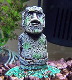Penn plax easter island statue aquarium resin for Moai fish tank