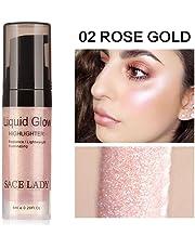 Niome 6ml Face Liquid Highlighter Cream Illuminator Shimmer Glow Kit Facial Brighten Shine Moisture Makeup Cosmetic 2#