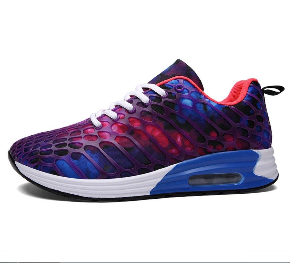 Zapatos Casuales Ligeros De Los Hombres Zapatos De Los Amantes Del Tamaño Grande Zapatos Del Estudiante Zapatos De Camuflaje De Malla Transpirable Zapatillas De Running Ladie Air Cushion Para Hombres 42|Púrpura