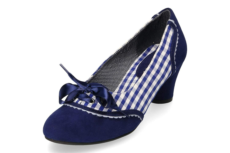 Ruby Shoo Damen Ophelia Pumps Blau Dunkel Gr. 40