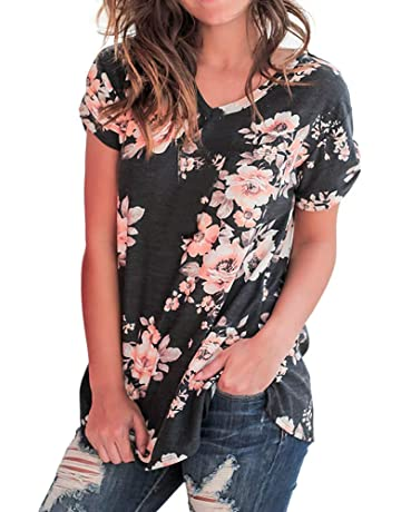 305c63f9bd420 Zyqzw Female Large Size Feather Print V-Neck Five-Point Sleeve Fashion  Beautiful Shirt