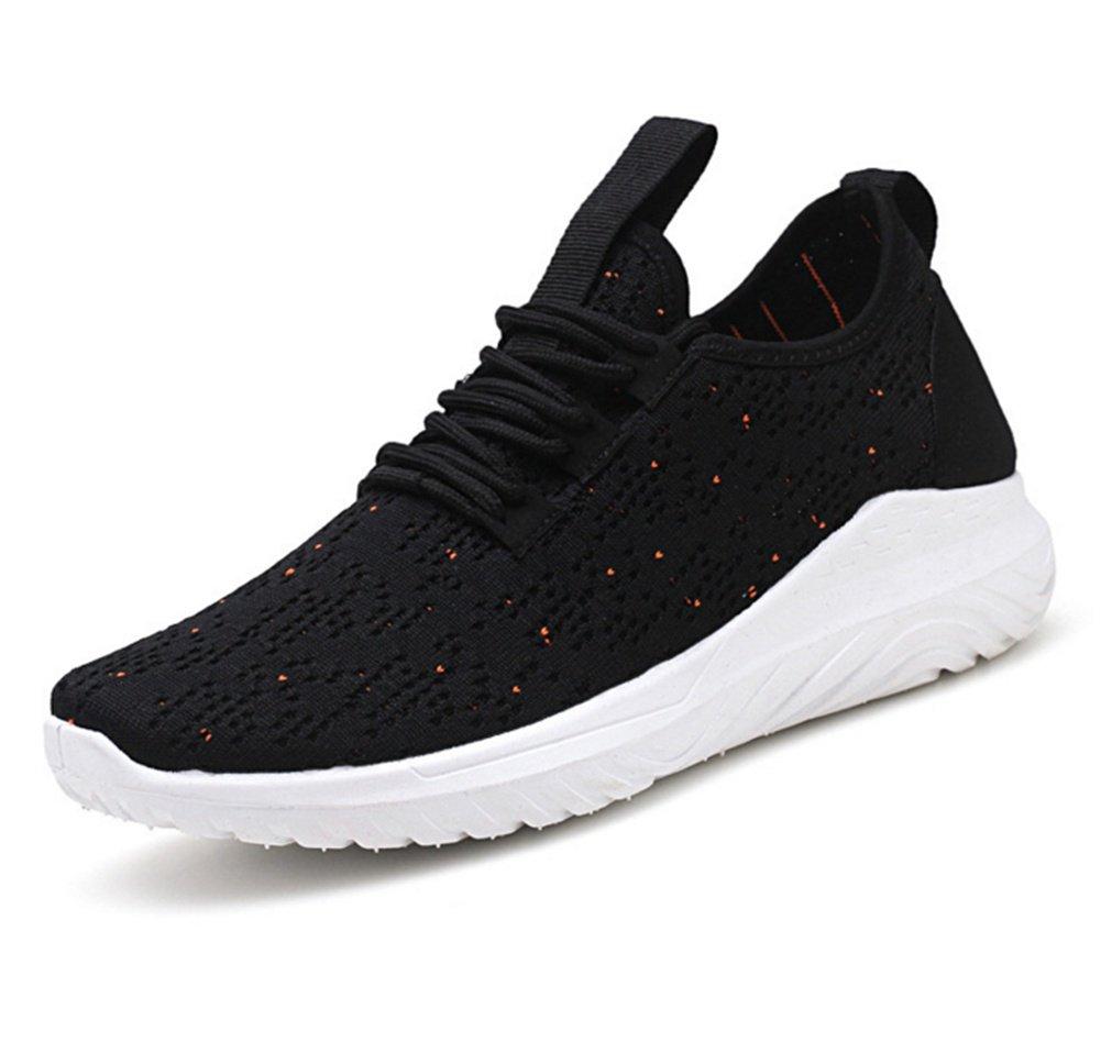 XIE Spring Summer Flying Weave Sneakers Zapatos para Hombres Trend Trend Zapatillas de Running 39-43, Black, 41 41|black