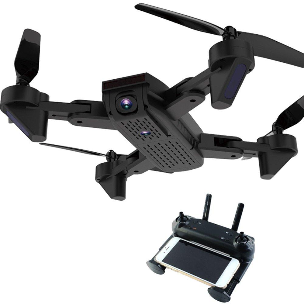 Springdoit WiFi Plegable Antena de Cuatro Ejes de detección de Gravedad cámara HD 360 Grados rodante USB fotografía aérea de Carga de Aviones no tripulados - Negro