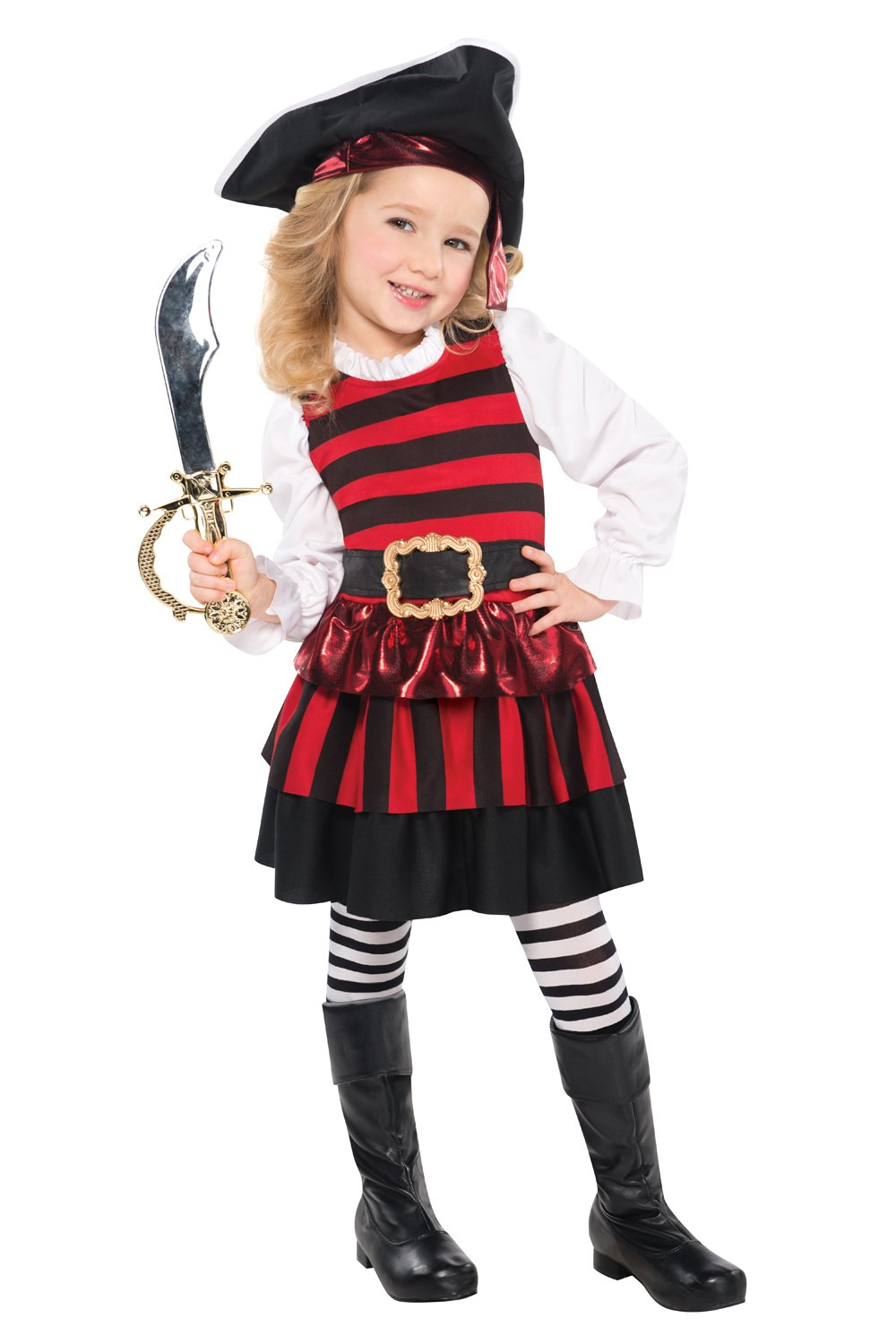 Christyu0027s Toddler Girls Little Lass Pirate Costume  sc 1 st  Amazon UK & Kids Pirate Costume: Amazon.co.uk