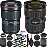 Canon Dual Lens Deluxe Bundle - International Version (No Warranty) Includes Canon EF 16-35mm f/2.8L III USM + Canon EF 24-70mm f/2.8L II USM + 28 Filters Kit & More!