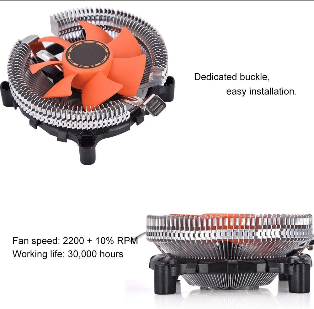 Ultra-Quiet Personalized Fashionable Practical for Desktops Computer Fan Heat Sink Redxiao CPU Cooling Fan