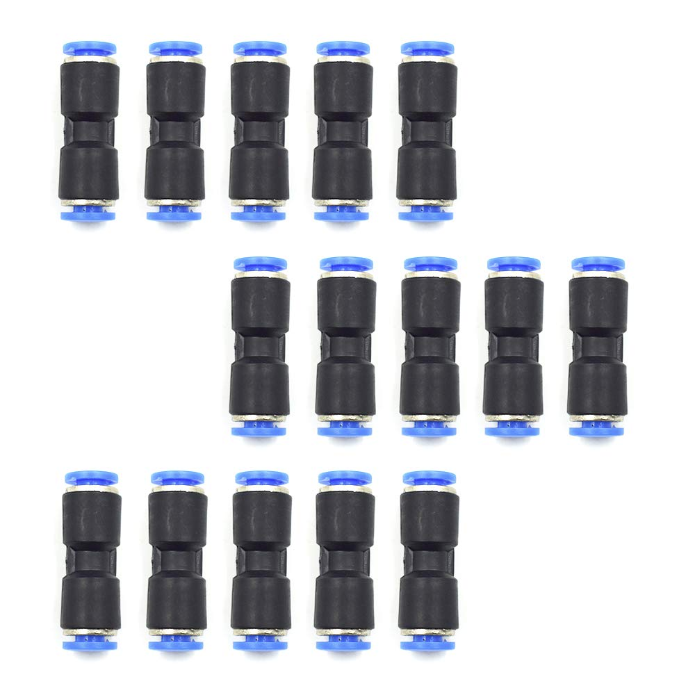 Plastic Push to Connect Fittings Tube Straight Connect 4 Mm to 4 Mm Push Fit Fittings Tube Fittings Push Lock-15 Pcs HONJIE Connect Fittings 5//32 OD