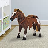 New MTN-G Kids Toy 24'' Ride On Horse Plush Standing Pony Cowboy Gift Neigh Sound
