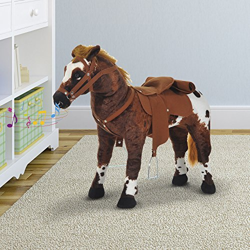 New MTN-G Kids Toy 24'' Ride On Horse Plush Standing Pony Cowboy Gift Neigh Sound by MTN Gearsmith