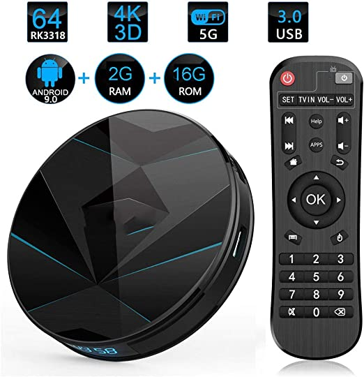 LTLZCY Android 9.0TV Box [4GB RAM+128GB ROM] Android TV Box, WiFi 2.4G / 5G / Quad Core 3D / 4K Full HD / USB3.0 /BT 4.0 Android Smart TV Box Pendoo,2gb+16gb,USPlug: Amazon.es: