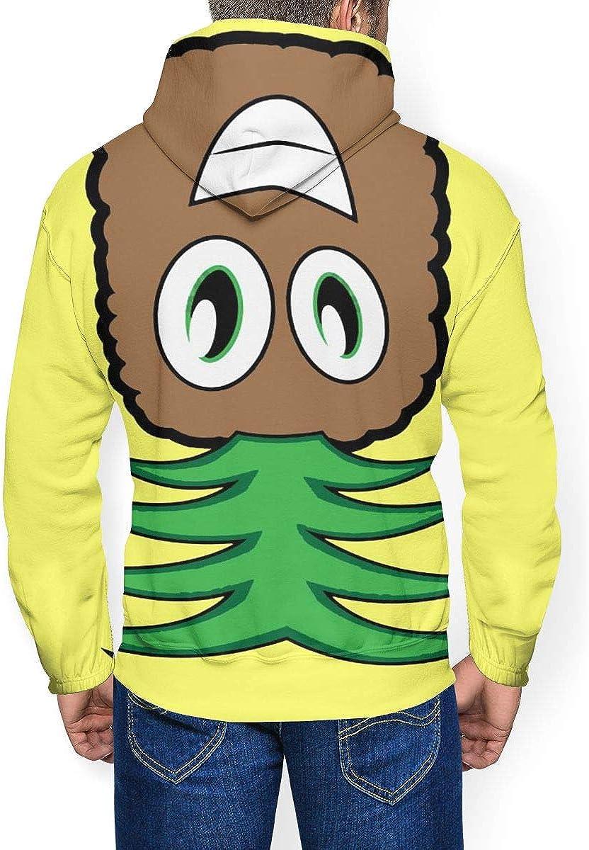 CHHCAC Pineapple Upside-Down Mens Fashion Print Thicken Sweatshirts Hooded Pullover