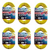 US Wire and Cable 100 Foot Lighted Extension Cord (6-Pack)