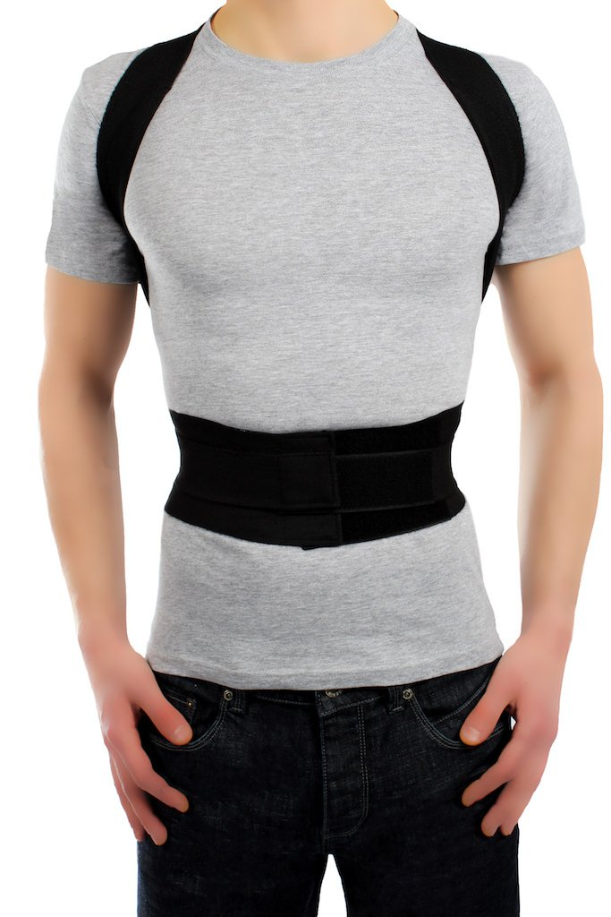 ®BeFit24 Modern Posture Corrector - Great Solution To Fix Computer Slouch - Full Back Pain Relief Belt - Best Shoulder Support Brace - [Size 3]