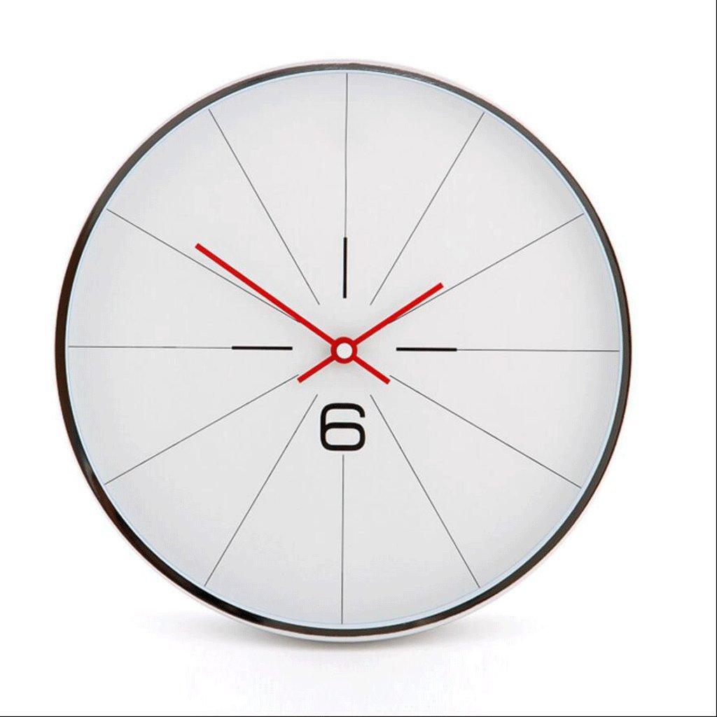 ガラス壁時計クォーツ時計リビングルームベッドルームミュート時計 GAODUZI (色 : E) B07FNGPPMWE