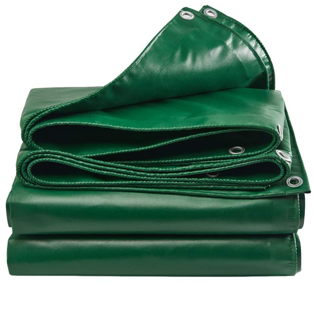 GUOWEI-pengbu ターポリン 日焼け止め シェード 防水 防風 防塵 アウトドア、 厚さ0.4mm (色 : Green, サイズ さいず : 3.8X3.8M) 3.8X3.8M Green B07JW61F59