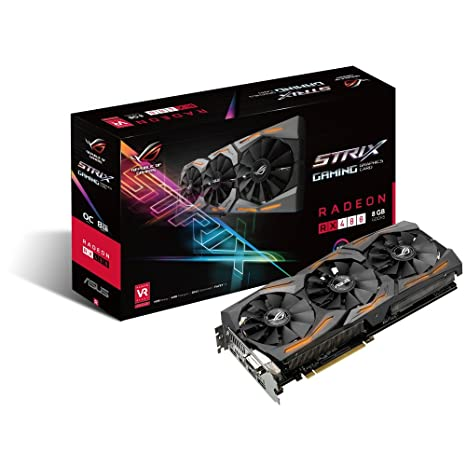 ASUS ROG STRIX Radeon Rx 480 8GB DP 1 4 HDMI 2 0 Polaris Vr Ready Graphics  Cards