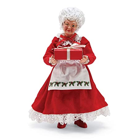 Department 56 Possible Dreams 6002727 Mrs Claus Figurine, Red