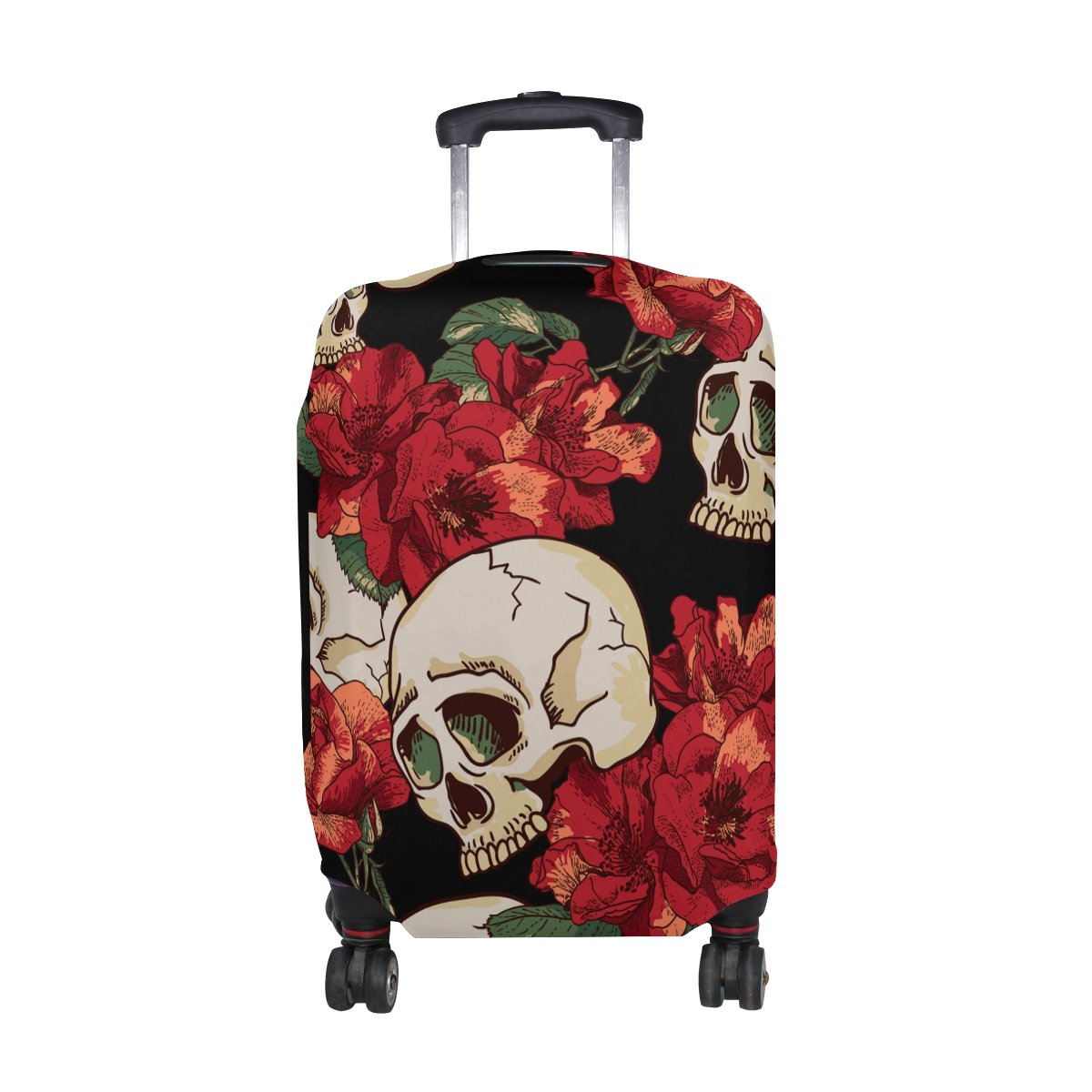 Sugar Skull Dia De Los Muertos Travel Luggage Protector Baggage Suitcase Cover Fits 18-21 Inch Luggage