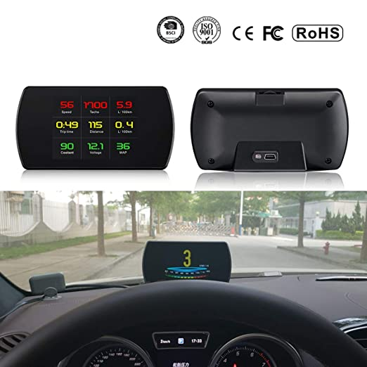 GOFORJUMP P12 5.8 TFT OBD2 Hud Head Up Pantalla Digital Coche ...
