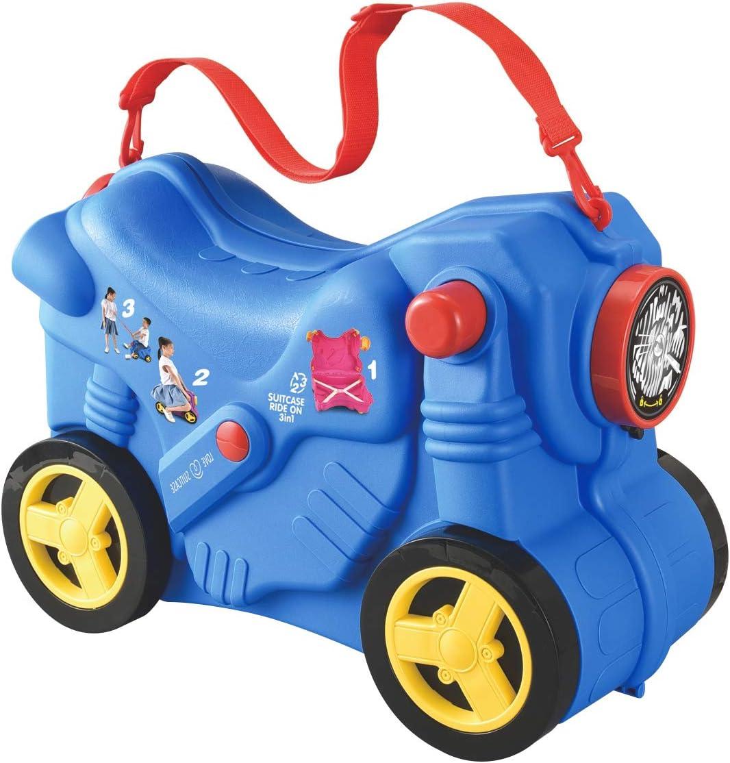 Macallen Maleta Correpasillos Ninos Nina Infantil Viaje con Ruedas Cabina Avion para Bebe 3 Años y más Modelo de Motocicleta 47 x 21 x 34 Centímetros Azul