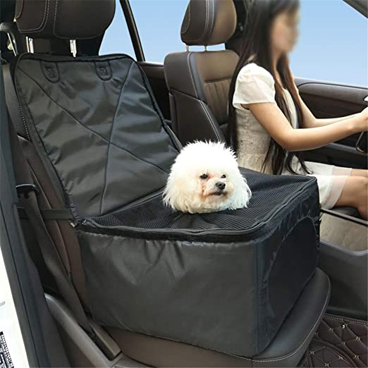 ANFTOP - Asiento Elevador para Mascotas, Transpirable, para Mascotas, Perros, Gatos, Asientos Delanteros, Asiento Elevador, Bolsa de Transporte para Coche para Perros pequeños, Cachorros y Viajes: Amazon.es: Productos para mascotas