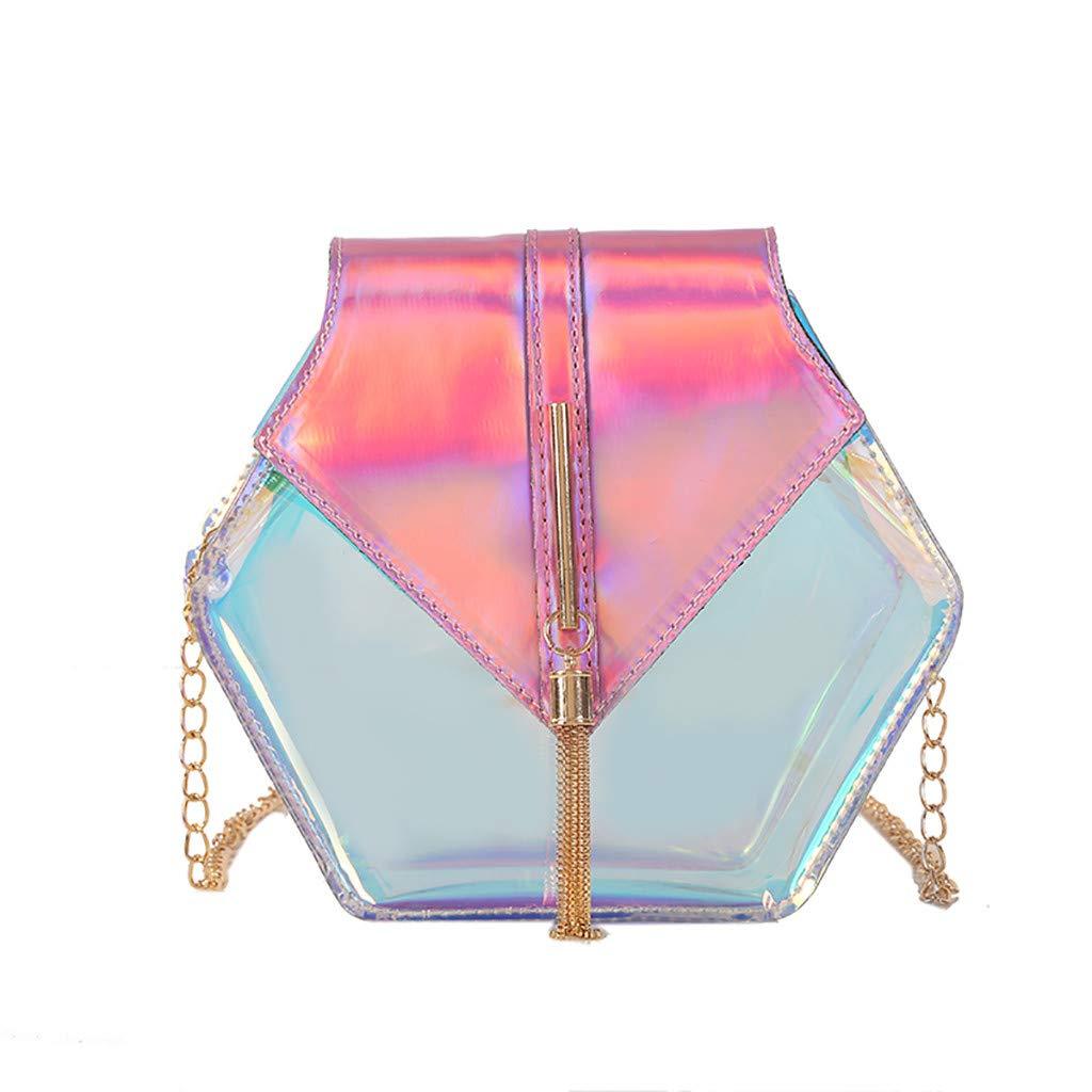 PLENTOP Handbags for Women Under 25,Purses and Handbags 9 West,Women Chain Tassel Versatile Shoulder Bag Messenger Bag Small Square Bag