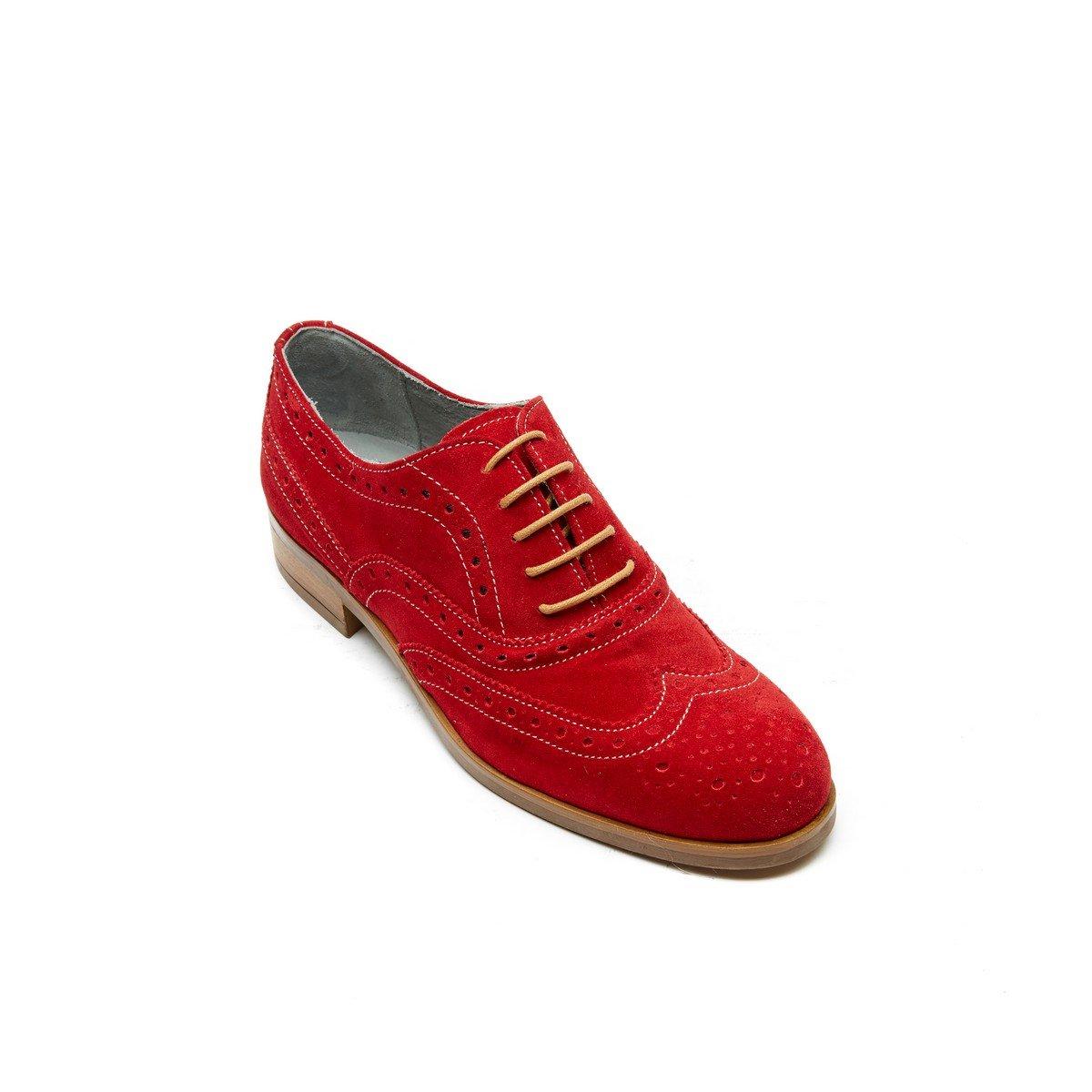 Frank Daniel Oxford, B01HIYPGYU Chaussures de Ville Frank à à Lacets Pour Femme Rouge Rouge - 2407919 - boatplans.space