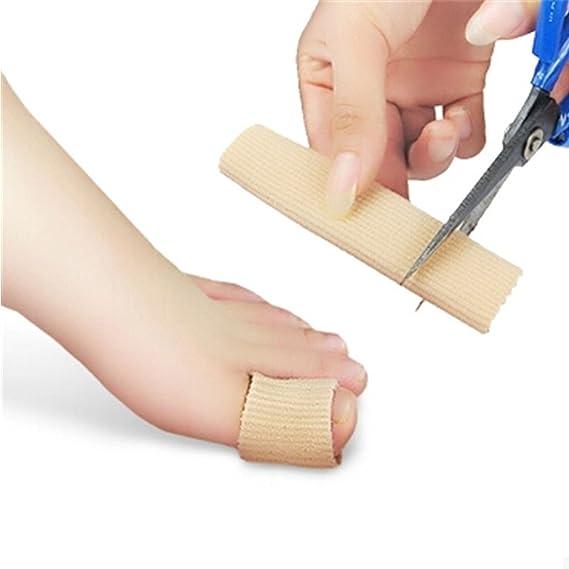 Image ofTop 15 cm tubo de gel de tela acanalado dedos del vendaje y dedos del pie Protector del pie manos cubierta de alivio del dolor de los pies pies herramienta de pedicura