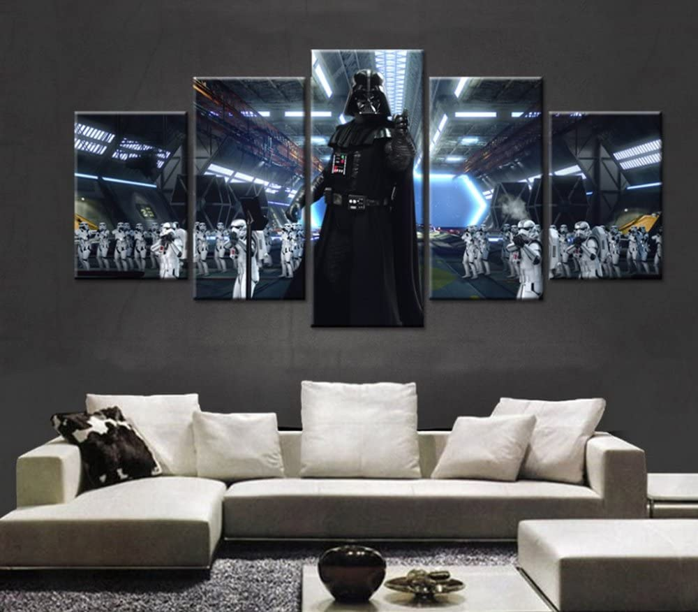 Amazon Com Epikkanvas Empowered Living 5pcs Framed Star Wars Black Knight Darth Vader Canvas 5 Piece Starwars Wall Art For Office And Home Wall Decor Xlarge 4060cm X2pcs 4080cm X2pcs 40100cm X1pc Posters Prints