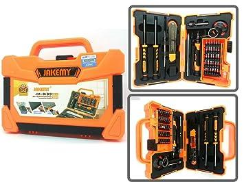 Kit maletín 45 herramientas para reparación Smartphones, PDA, ordenador portátil, PSP, DS, reproductor de mp3, teléfonos Muebles: Amazon.es: Oficina y ...