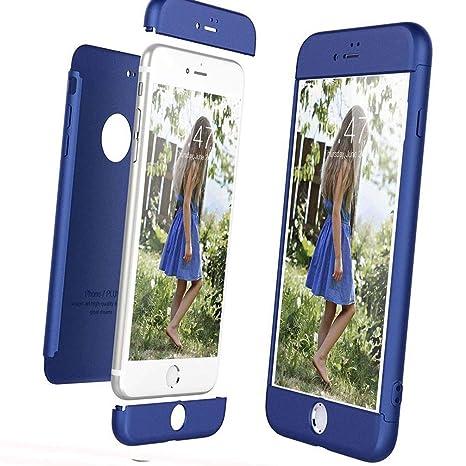 XCYYOO Funda para iPhone 7 Plus/8 Plus Custodia de 360°Caja Protectora PC Shell,Carcasa iPhone 7 Plus/8 Plus Silicona Snap On Diseño Antigolpes Choque ...