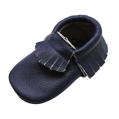 Amazon.com: Mejale - Zapatillas de piel suave con borla para ...