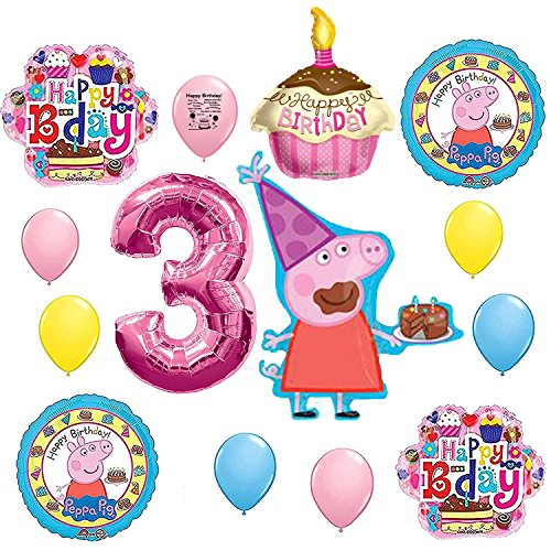 Peppa Pig 3rd Birthday Party Balloon Decoration Kit