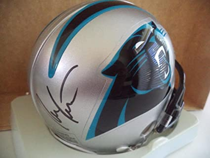f67558f6f609b Image Unavailable. Image not available for. Color  Ron Rivera Autographed Mini  Helmet - Carolina Panthers Head Coach Riddell ...