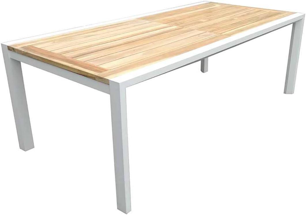Mesa de jardín madera rústico outliv. Exeter – Mesa extensible 220 ...