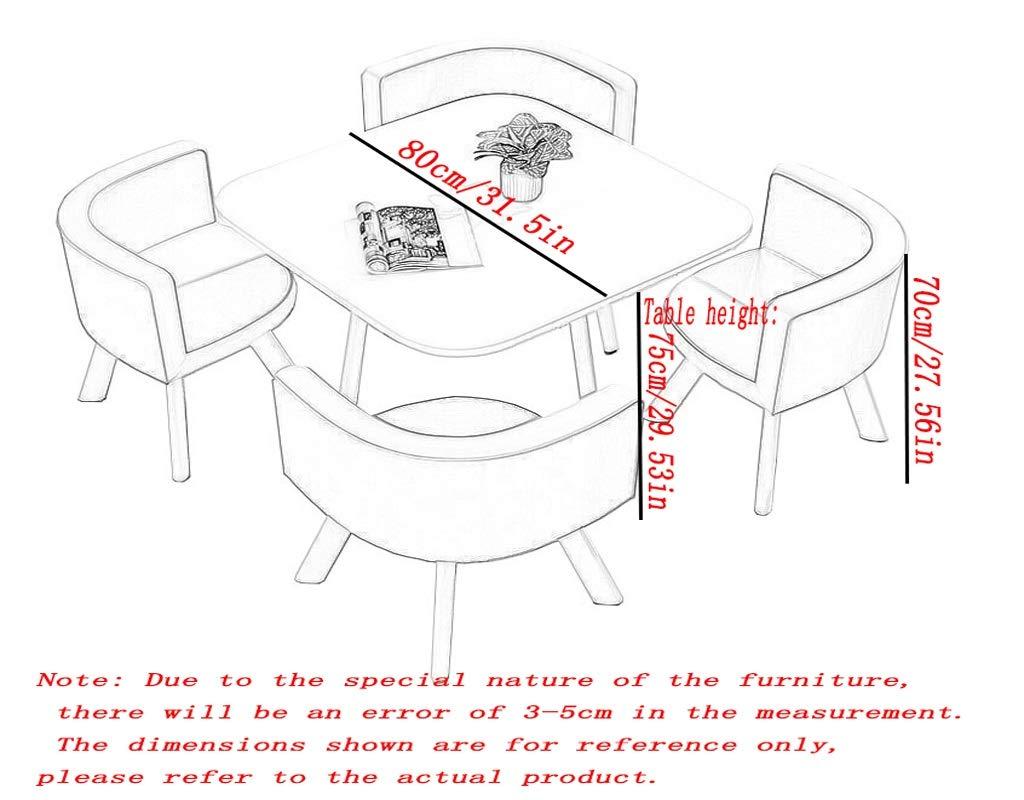 Gaohh kontorsbord och stol-set vardagsrum korridor kafé tebutik lounge mötesrum köpcentrum stormarknad förhandlingsrum hotell fritid enkel 1 bord 4 stolar (färg: Röd) BLÅ
