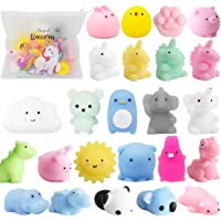 POKONBOY 25 Pack Mochi Squishy Toys-Mini Squishy Toys with Unicorn Bag Easter Party Favors for Kids Mochi Animals…