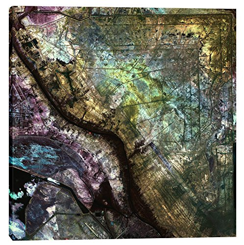 Epic Graffiti Earth As Art: Iraqi Emplacement Giclee Canvas Wall, 37'' x 37'' by Epic Graffiti