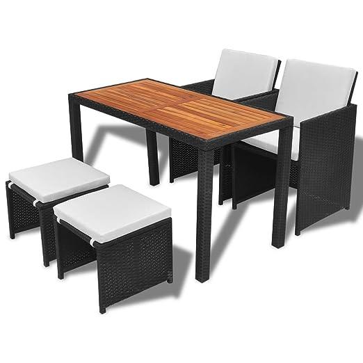 Tidyard Conjunto Muebles de Jardín de Ratán 11 Piezas con Taburetes Sofa Jardin Exterior Sofas Exterior Ratan Conjunto Jardin para Jardín Terraza ...