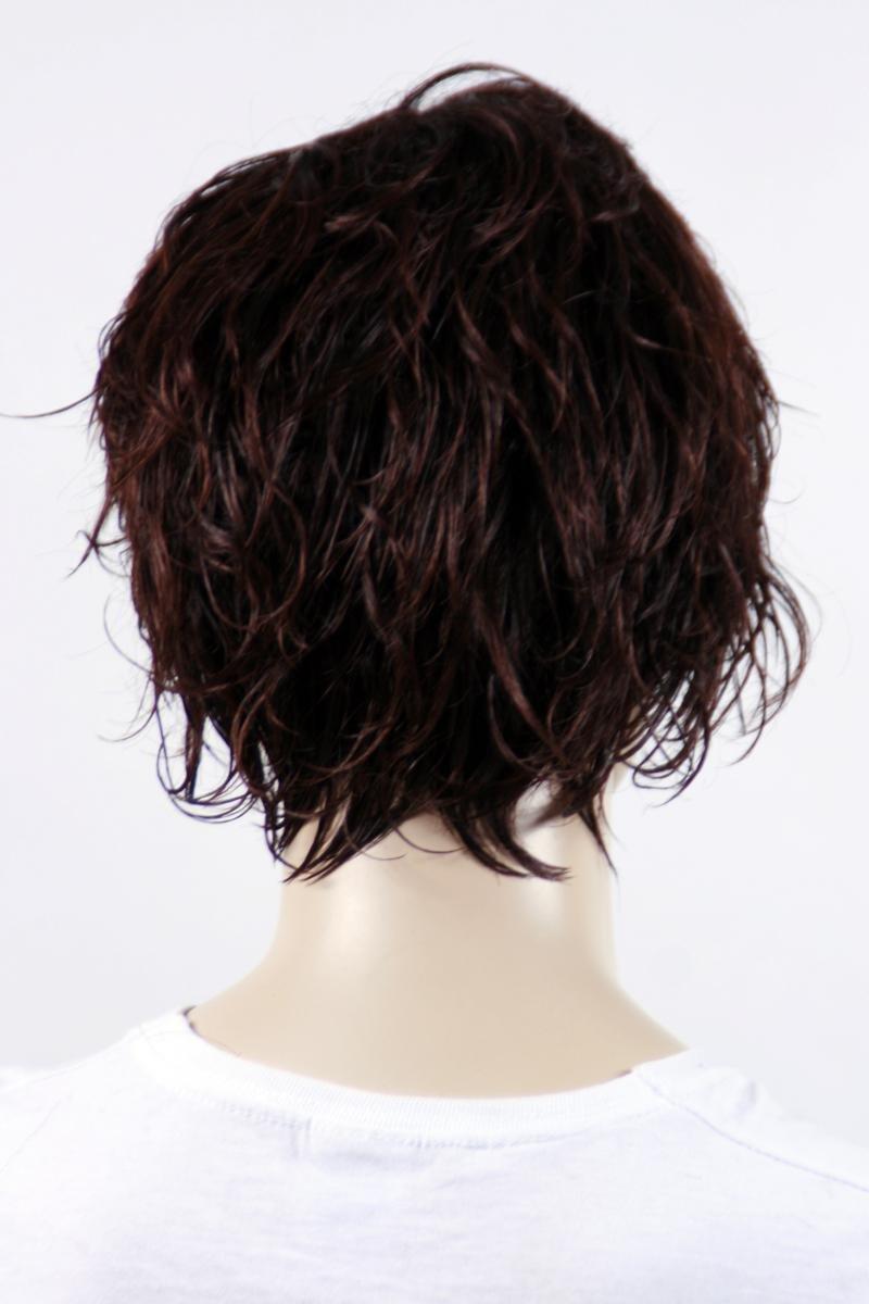 Pelucas mujeres corto rojo//rubia a franjas rizado Alise corrugado