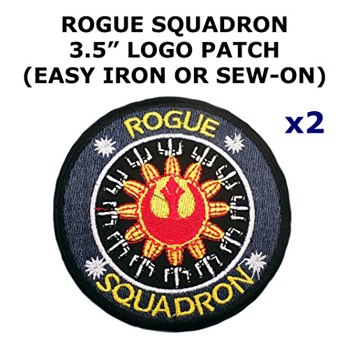 2 PCS Rogue Squadron Star Wars Theme DIY Iron / Sew-on Decorative Applique (Diy Rogue Costume)