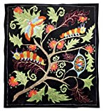 BEAUTIFUL UZBEK SILK EMBROIDERY SUZANI ''AMAZING NATURE'' A10359