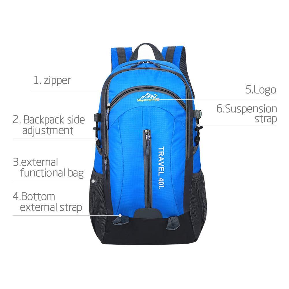 NewMum Zaino da Escursione per Escursionismo Zaino da Viaggio di Grande capacit/à Impermeabile Uomo e Donna per Zaini con Presa USB 40L