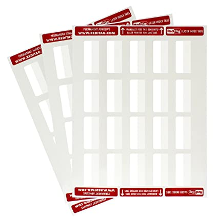 graphic about Printable Index Tabs named : Redi-Tag Laser Printable Index Tabs, Vast majority Unfastened